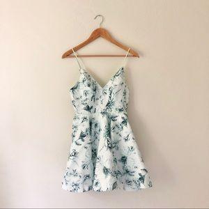 Silence + Noise Hologram Floral Dress